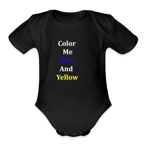 yellowandblue - Organic Short Sleeve Baby Bodysuit