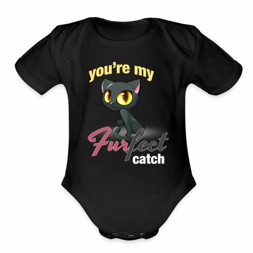 FURFECT CATCH - Organic Short Sleeve Baby Bodysuit