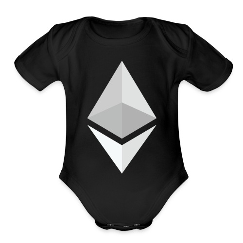 Ethereum Logo Light - Organic Short Sleeve Baby Bodysuit