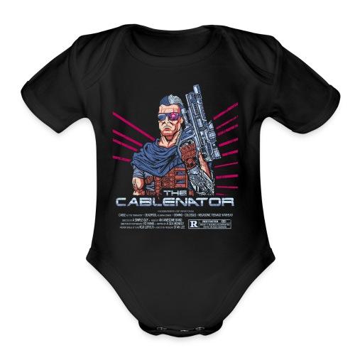 The Cablenator - Organic Short Sleeve Baby Bodysuit