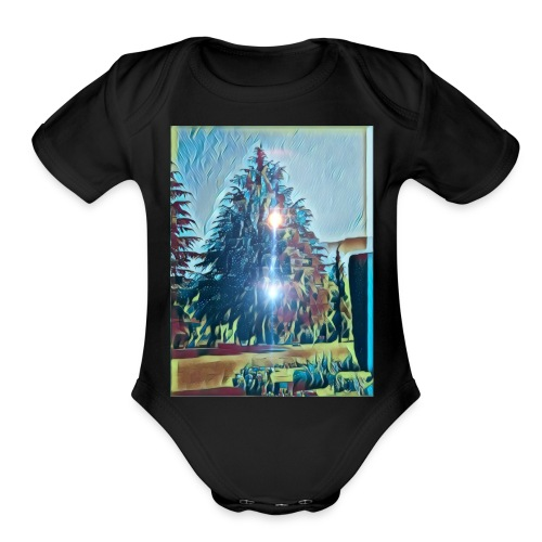 Save the present for better future - Organic Short Sleeve Baby Bodysuit