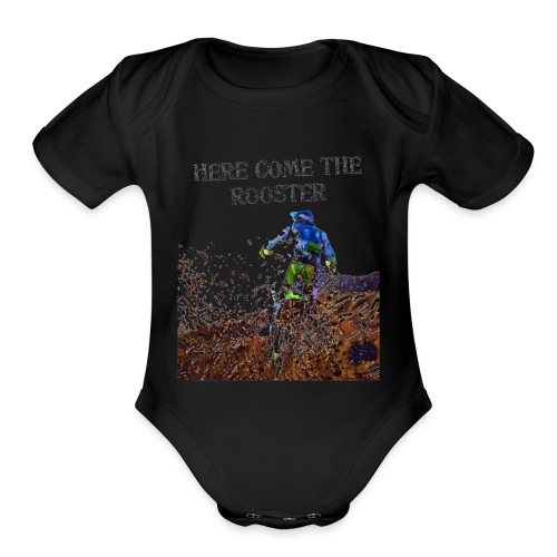 MX Rooster - Organic Short Sleeve Baby Bodysuit