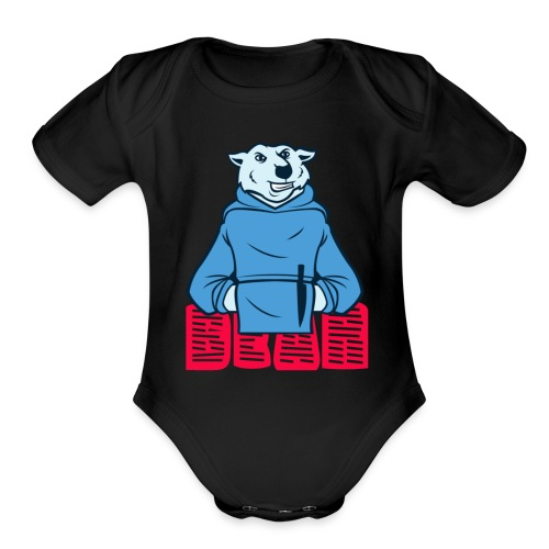 bear t shirt - Organic Short Sleeve Baby Bodysuit