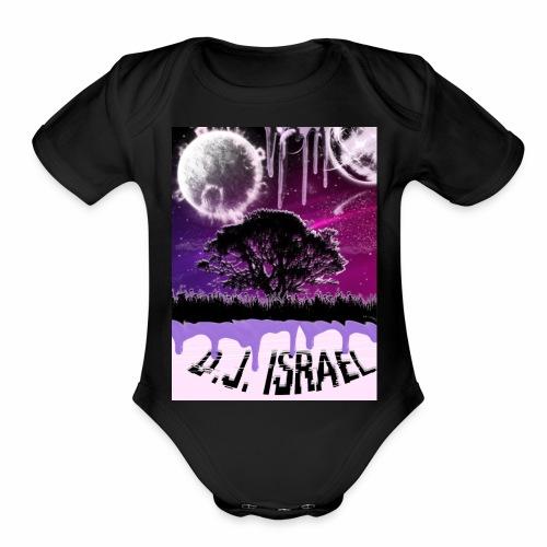 TOF Family Custom Dj Israel syrup - Organic Short Sleeve Baby Bodysuit