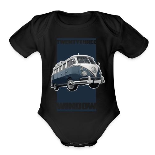 TWENTYTHREE WINDOW - Organic Short Sleeve Baby Bodysuit