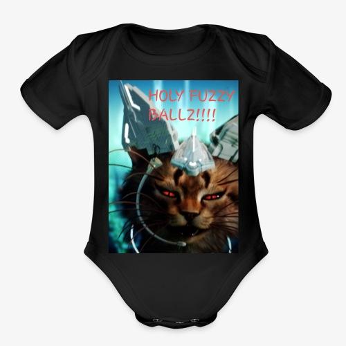 Fuzzy ballz - Organic Short Sleeve Baby Bodysuit