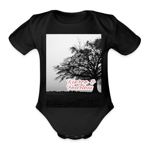 Fierce and Fearless - Organic Short Sleeve Baby Bodysuit
