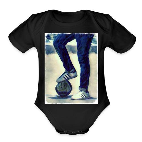 Football Freaks - Organic Short Sleeve Baby Bodysuit