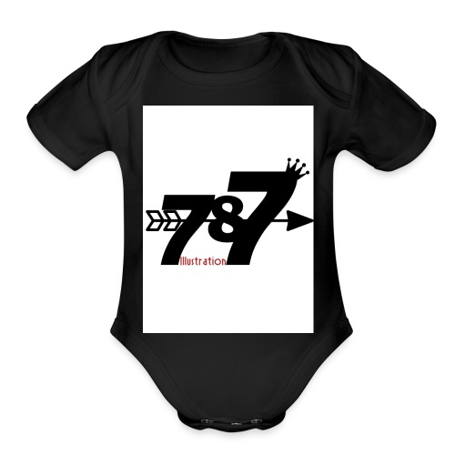 787 illustration - Organic Short Sleeve Baby Bodysuit