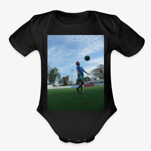 future golden ball - Organic Short Sleeve Baby Bodysuit
