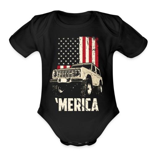 Bronco 'Merica Truck - Organic Short Sleeve Baby Bodysuit