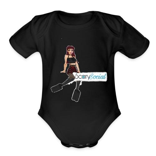 Scarysocial Merch - Organic Short Sleeve Baby Bodysuit