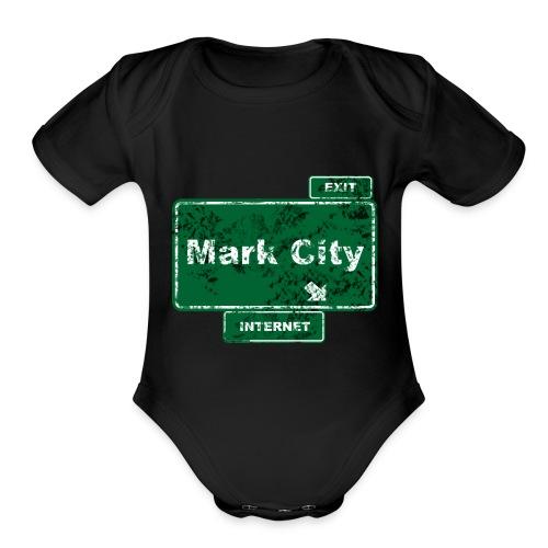 Mark City - Organic Short Sleeve Baby Bodysuit