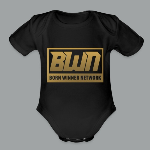 BWN (Gold) - Organic Short Sleeve Baby Bodysuit