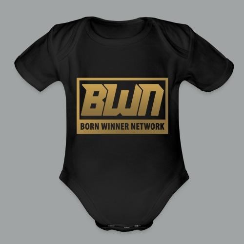 BWN (Gold) - Organic Short Sleeve Baby Bodysuit