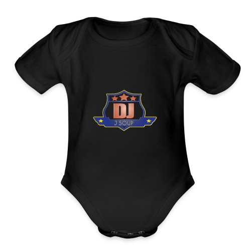 DJ_J_Soup_Blue - Organic Short Sleeve Baby Bodysuit
