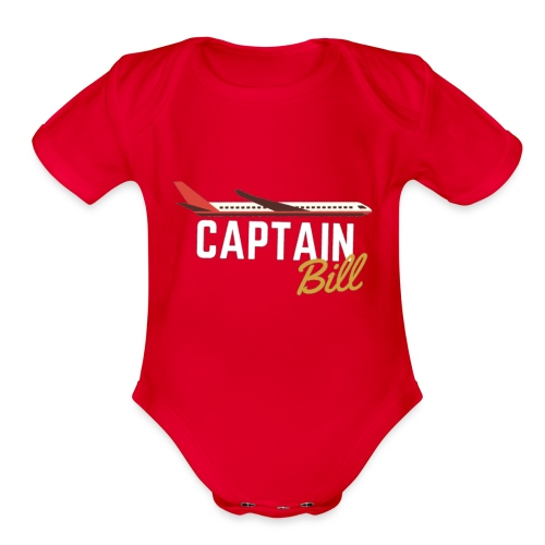 Captain Bill Avaition products - Organic Short Sleeve Baby Bodysuit