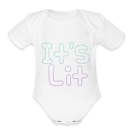 2-Tone It's Lit! Design - Organic Short Sleeve Baby Bodysuit