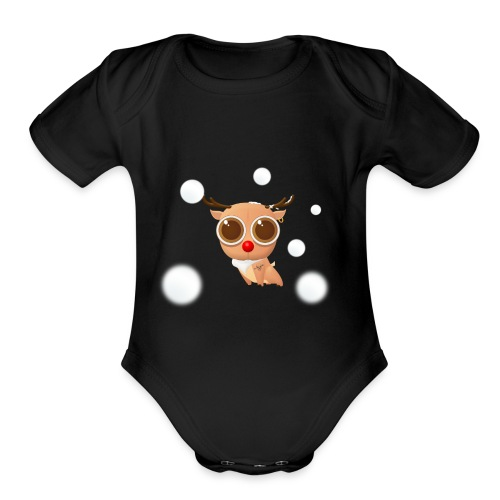Reindeer of Christmas - Organic Short Sleeve Baby Bodysuit
