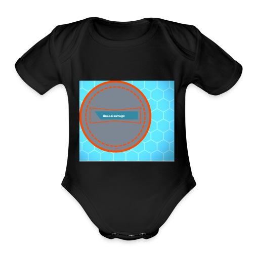 Azaan savage merch - Organic Short Sleeve Baby Bodysuit