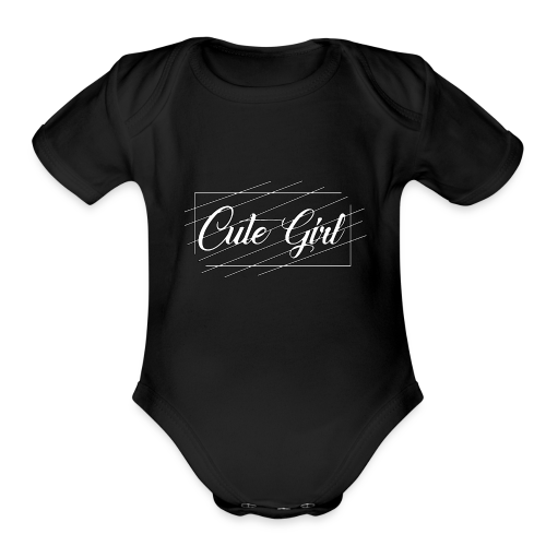 Cute Girl 01 - Organic Short Sleeve Baby Bodysuit