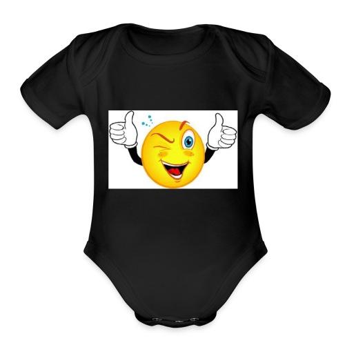 smiley merch - Organic Short Sleeve Baby Bodysuit