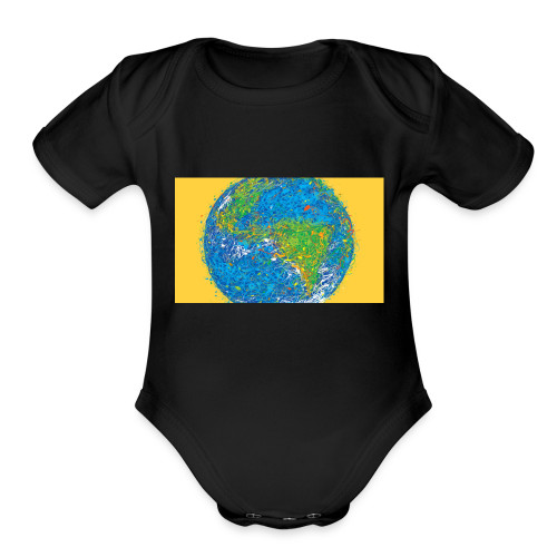 world - Organic Short Sleeve Baby Bodysuit