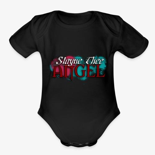 Heart Splatter Logo - Organic Short Sleeve Baby Bodysuit