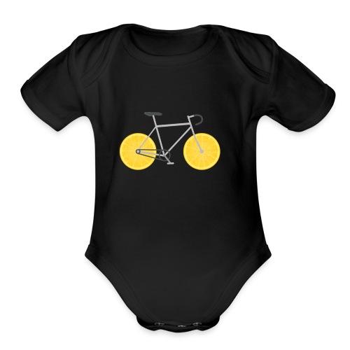 Lemon Bike - Organic Short Sleeve Baby Bodysuit