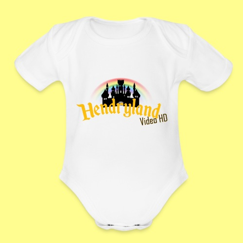 HENDRYLAND logo Merch - Organic Short Sleeve Baby Bodysuit