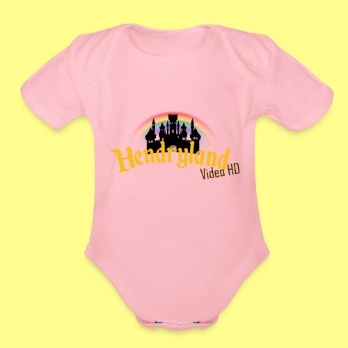 HENDRYLAND logo Merch - Organic Short Sleeve Baby Bodysuit