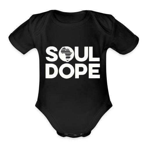 souldope white tee - Organic Short Sleeve Baby Bodysuit