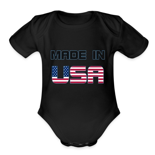 Made in USA - Organic Short Sleeve Baby Bodysuit