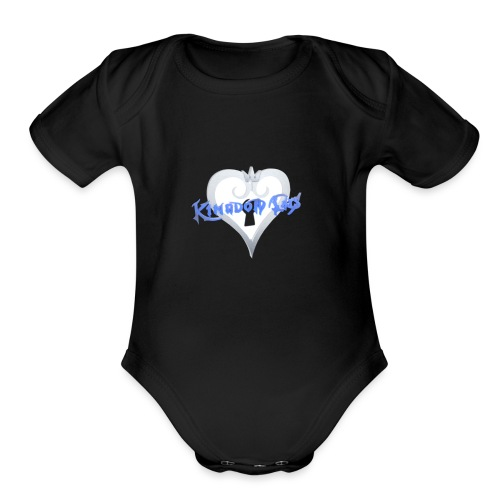 Kingdom Cats Logo - Organic Short Sleeve Baby Bodysuit
