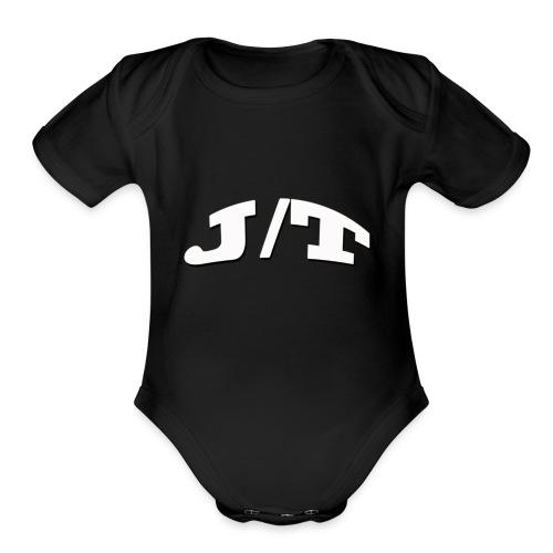 White Lettering - Organic Short Sleeve Baby Bodysuit