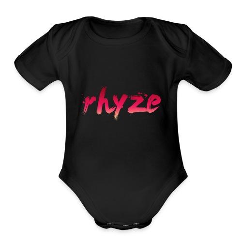Rhyze Lettering - Organic Short Sleeve Baby Bodysuit