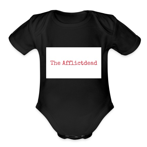 The Afflictdead Logo - Organic Short Sleeve Baby Bodysuit