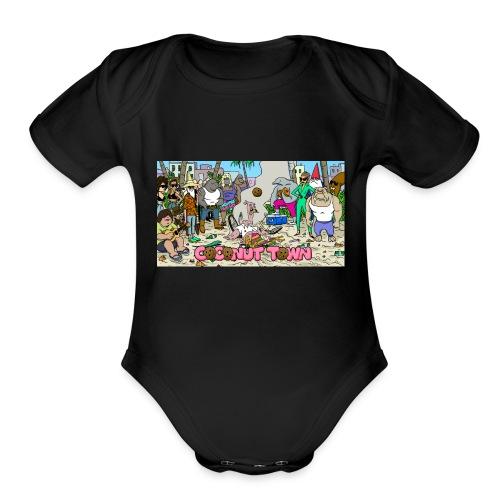 Coconut Town - Organic Short Sleeve Baby Bodysuit