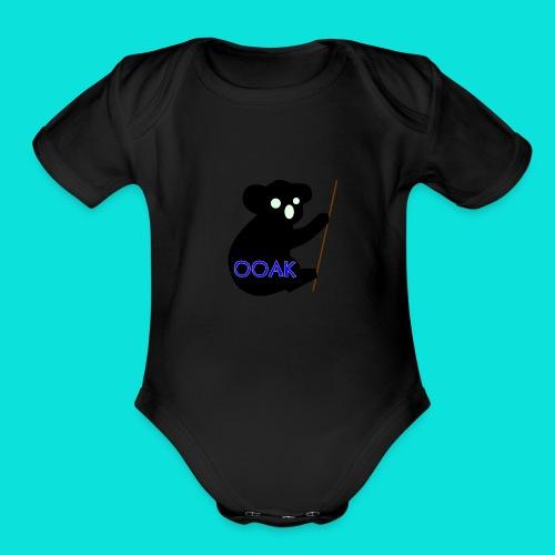 One Of A Kind Blue 2 - Organic Short Sleeve Baby Bodysuit