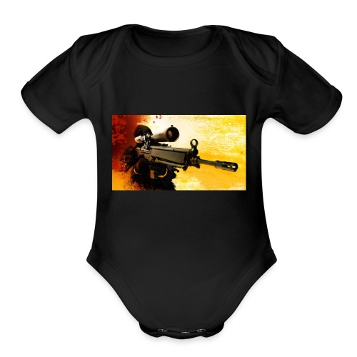 CS-GO-UL LUI ALEX - Organic Short Sleeve Baby Bodysuit