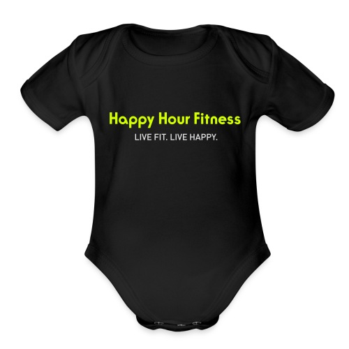 HHF_logotypeandtag - Organic Short Sleeve Baby Bodysuit