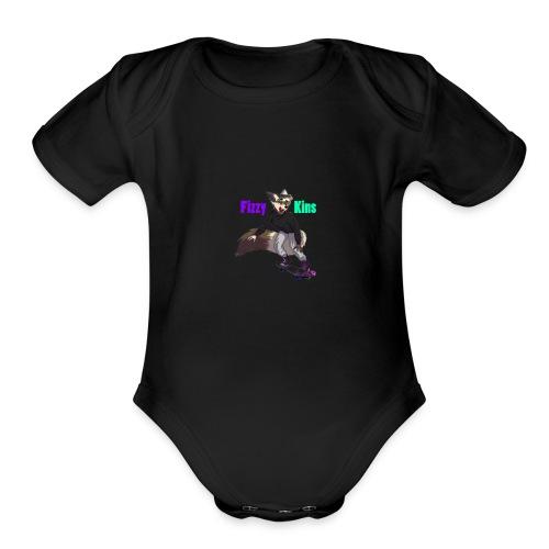FizzyKins Design #1 - Organic Short Sleeve Baby Bodysuit