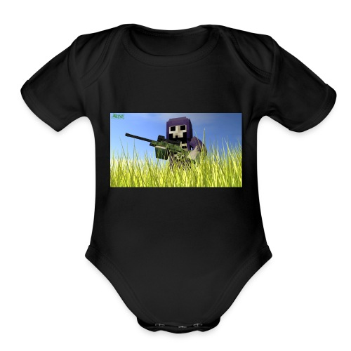 The gun DeathLord - Organic Short Sleeve Baby Bodysuit