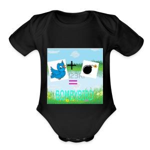 merchandise logo - Short Sleeve Baby Bodysuit