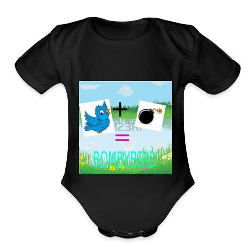 merchandise logo - Organic Short Sleeve Baby Bodysuit