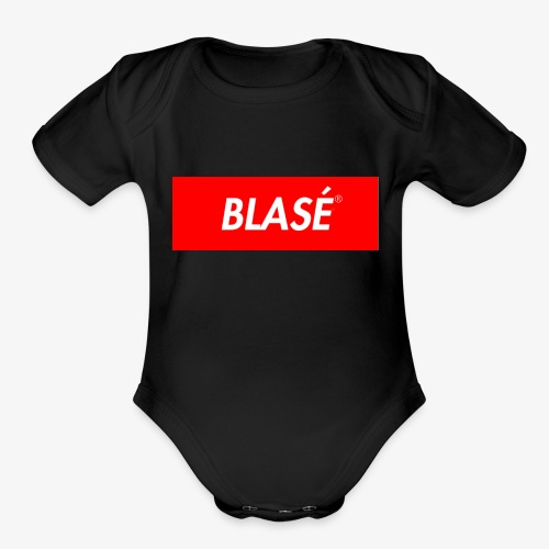 BLASÈ CARUŚ - Organic Short Sleeve Baby Bodysuit