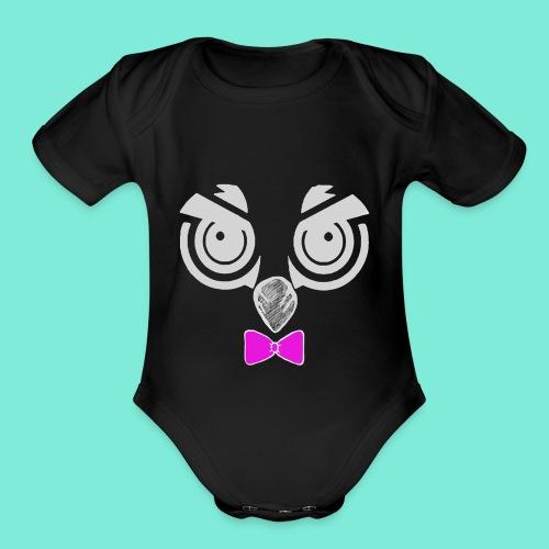 Mackster white - Organic Short Sleeve Baby Bodysuit