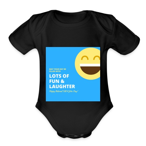 Funny wish - Organic Short Sleeve Baby Bodysuit