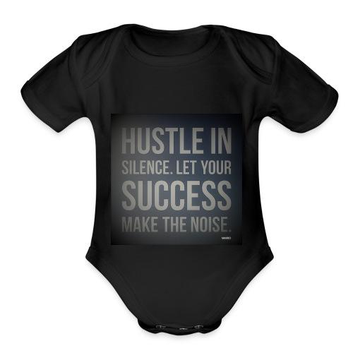 HUSTLE2 - Organic Short Sleeve Baby Bodysuit