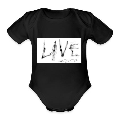 LIVE t-shirt - Organic Short Sleeve Baby Bodysuit